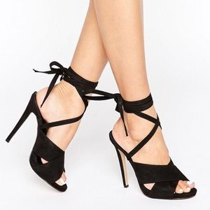 NEW ASOS Truffle Tie Ankle Rita Heeled Sandals